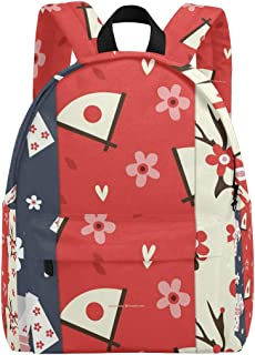 FAJRO Japanese Kimono Artistic Cherry Blossom Pattern Travel Backpack Carry On School Pack