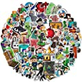 Nertpow Minecraft Stickers Decals100 Pack Video Game Theme Funny Stickers for Minecraft Lovers Best Gift by Nertpow
