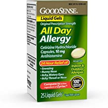 Good Sense All Day Allergy, Cetirizine Hcl Tablets 10 Mg, Antihistamine for Allergy Relief, 25Count