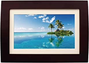 Sylvania SDPF1089 10-Inch LED Multimedia Wood Finished Digital Photo Frame with Remote Control and 2 GB Built in Memory (Brown) (Renewed)