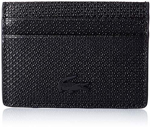 Lacoste NF3403CE, Accessoire de Voyage-Porte-Cartes en enveloppe Femme, Noir, Taille Unique
