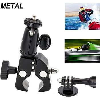 Gojiny supporto per staffa per bicicletta supporto a vite attacco per manubrio supporto per clip per bici per gopro hero//action camera