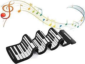 Wendry Portable Piano, 61 Keys Foldable Roll Up Piano, USB E