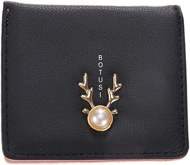 Women Pearl Print Wallet Zipper Short Wallet Coin Purse Card Holders Handbag Clutch