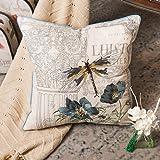 POPRY American Country Stickerei Blume Schmetterling Taille Kissen Kissen chinesischen Mahagoni...