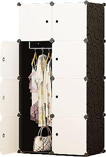 Garde-robe XINYALAMP Armoire de Placard Armoire Portable pour Suspendre des vêtements Combinaison Armoire modulaire Armoir...