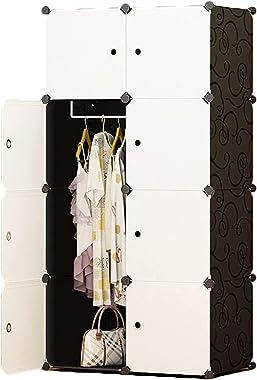 Combination Clothes Closet Wardrobe Portable Wardrobe for Hanging Clothes Combination Armoire Modular Cabinet Storage Organiz