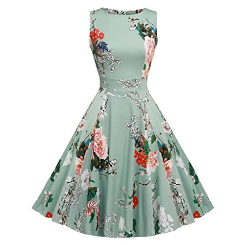43304485c26 ARANEE Vintage Classy Floral Sleeveless Party Picnic Party Cocktail Dress