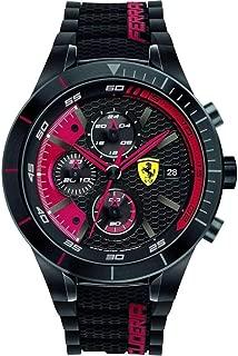 Ferrari Men's 0830260 REDREV EVO Analog Display Quartz Black Watch