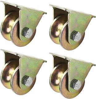 WQF U-groef spoorwiel, groefwiel, katrol, schuifdeurrol, zwenkwielen, voor gevolgde schuifdeuren en mechanische karren (4,...