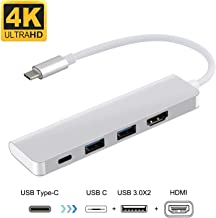 iBosi Cheng USB C Adapter, USB C to HDMI Adapter USB C Hub, 2 USB 3.0 Ports for MacBook Chromebook Pixel, Galaxy S8/S8+/S9/S9 Plus/Note 8 Power Converter Adapter