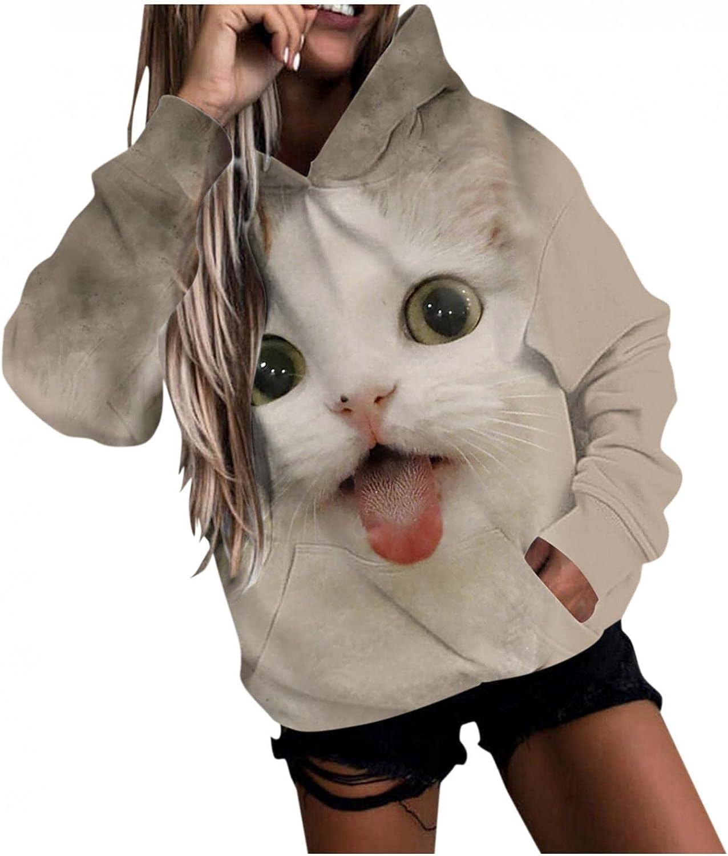 Sweatshirts for Women,Womens Sweatshirt Hooded Long Sleeve Striped Sweater Crewneck Hoodie Sweatshirt Loose Hoodie