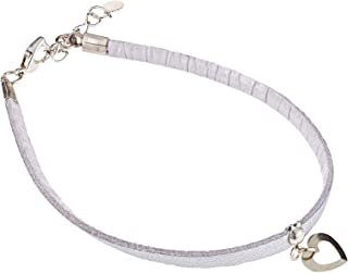 Alwan-Accessories New Silver Plated Short Size Anklet with Heart for Women and Teenager - EE3723FSHASS
