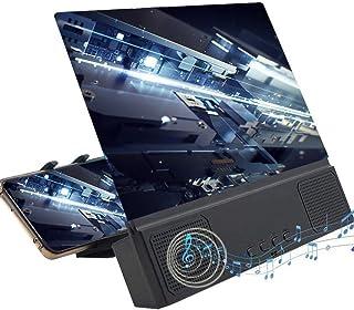 DAXGD Lupa de Pantalla con Altavoz para teléfono Inteligente, Lupa de teléfono Inteligente con Lupa de Pantalla 3D de 12 P...