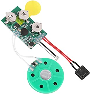 fosa DIY Greeting Card Chip, 60 Seconds Music Sound Audio Voice Recording Module Device Chip Recordable Sound Chip for Chr...