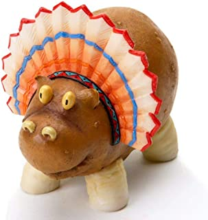 Enesco Home Grown 4017531 Thanksgiving Potato Hippo Indian Collectible Figurine, Multicolor, 3.4 inches
