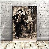 DNJKSA Paul Newman Robert Redford Filmkunst Poster Druck