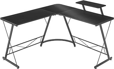 "Mr IRONSTONE L-Shaped Desk 50.8"" Computer Corner Desk, Home Gaming Desk, Office Writing Workstation with Large Monitor Stand,"