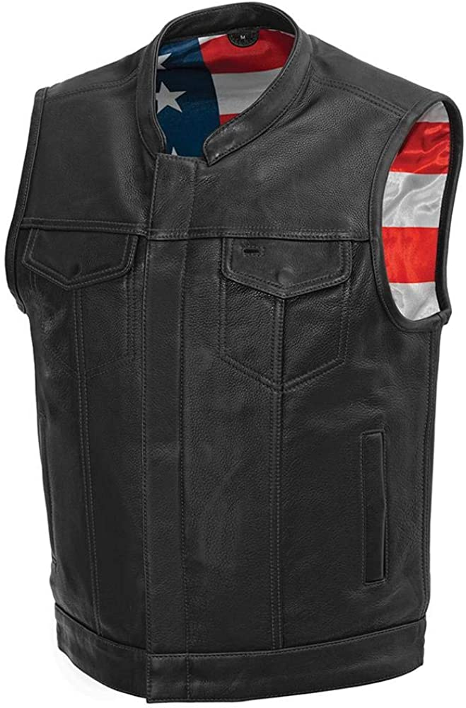 First Manufacturing Co List price - excellence Born Leather Motorcycle Club Vest Free