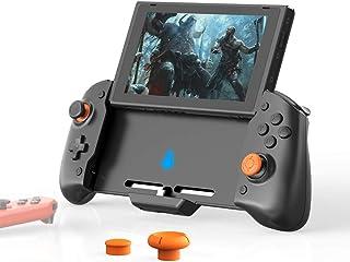 「最新版」Switch コントローラー、Nintendo Switch用の左右のJoy-Consを備えた拡張グリップコントローラー、有線スイッチProコントローラー、6軸ジャイロセンサー搭載 HD振動 、USB C PD再生と充電