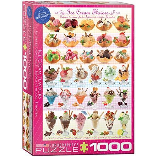 EuroGraphics Ice Cream Flavours Puzzle (1000-Piece), 1000 Piece Puzzle