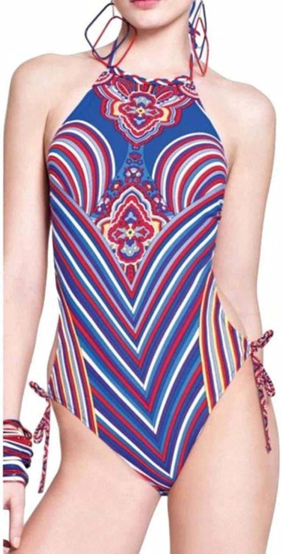 Gottex Women's Linea Geometric Halter Monokini