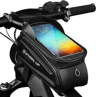 comprar comparacion GAYISIC Bolsas de Bicicleta, Bolsa Impermeable para Bicicleta, Bolsa Táctil de Tubo Superior Delantero con Orificio para A...