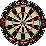 Viper League Regulation Bristle Steel Tip Dartboard Set with Staple-Free Bullseye, Galvanized Metal Thin Radial Spider Wire; High-Grade Compressed Sisal Board with Rotating Number Ring Extending Life