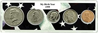 1999-5 Coin Birth Year Set in American Flag Holder Uncirculated