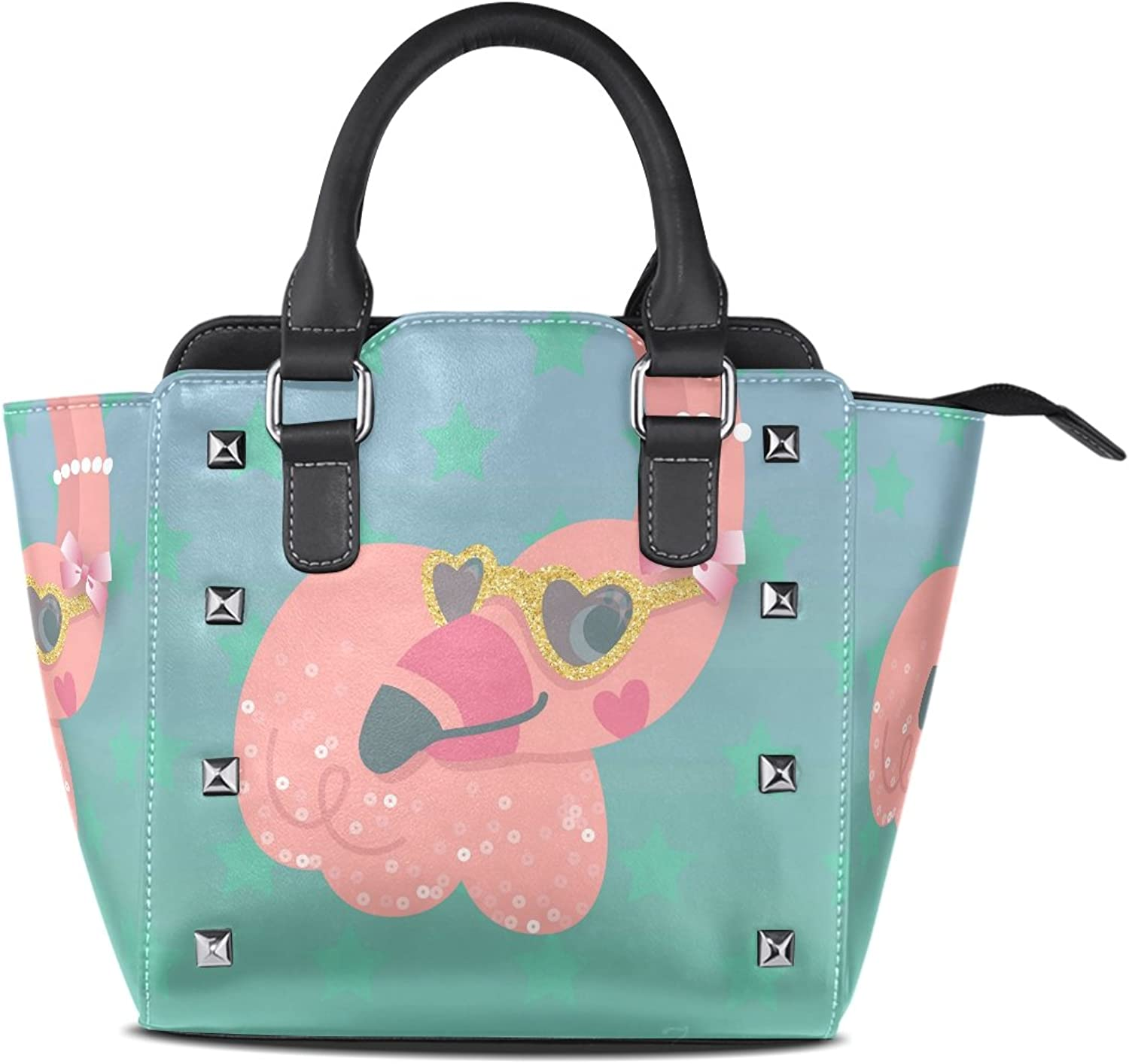 Womens Genuine Leather Hangbags Tote Bags Ostrich Head Purse Shoulder Bags