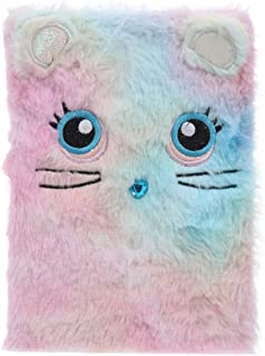 Fan-Ling Fluffy Plush Cartoon Cute Diary Book Notebook Notepad Paper, Creative Notebook,Multipurpose, Used as Notepad, Diary Notebook, Exercise Book (B)