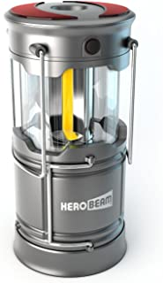 HeroBeam V3 LED Rechargeable Lantern - The Ultimate Collapsible Tough Lamp for Camping, Fishing, Car, Shop and Emergencies - Magnetic Lantern, Flashlight and Emergency Beacon in One! - 5 Year Warranty