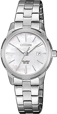 Citizen Reloj Analógico para Mujer de Cuarzo con Correa en Acero Inoxidable EU6070-51D