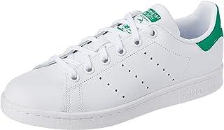 adidas Originals Stan Smith J, Baskets Mixte, Footwear White/Footwear White/Green, 38 EU