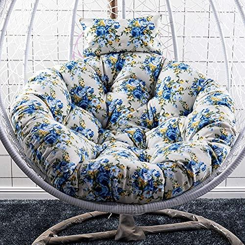 HYLX Cojín colgante para silla de huevo, gran espeso, acolchado de asiento con almohada, cómodo y transpirable (solo cojín)