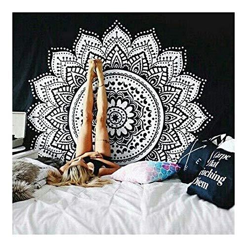 Jue Tapices colgados de la Pared del lecho Mandala Tapices Indios Hippie Gypsy Art Inicio for Bohemia decoración del Dormitorio zxy (Color : A, Size : 200 * 150CM)