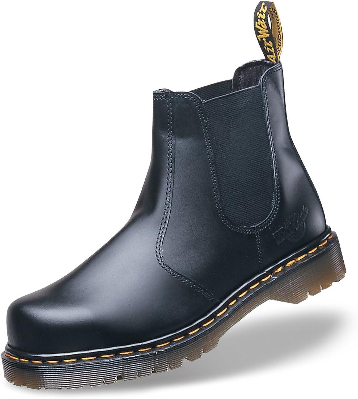Dr Martens Airwair Industrial Black Leather Safety Toe Dealer Boot UK 12 (DM609A)