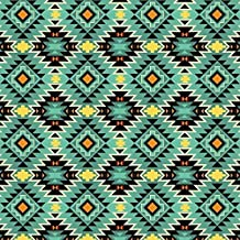 Southwest Argyle Teal Cotton Fabric by The Yard