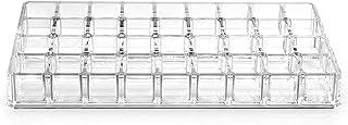 صندوق تنظيم مستحضرات التجميل واحمر الشفاه وادوات الزينة بتصميم من 5 مستويات من الاكريليك بنمط شفاف