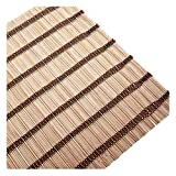 RZEMIN - Persianas enrollables de bambú venecianas para patio, persiana enrollable, pantalla de privacidad para porche, sombra de sol, tamaño personalizable (color: A, tamaño: 150 x 220 cm)