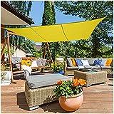 HANYU Hellgelb Sonnenschutznetz,Mehrzweck Sonnenschutznetz,Sonnendachzelt Markise Leinwand,Geeignet Für UV-Schutz Privatsphäre Garten Camping(Mehrere Größen Verfügbar)(Size:4m x 7m)