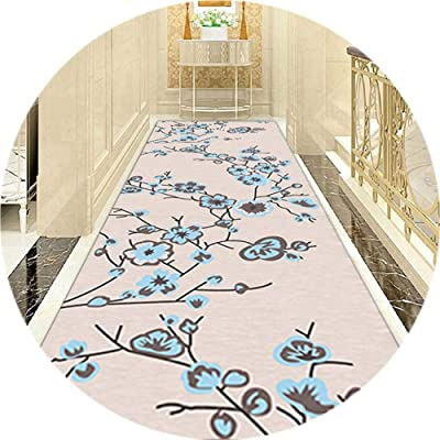 WX&QIANG Non Slip Rug Runner for Hallway Corridor Long Carpet Area Rugs Washable Customizable Cuttable Fade Resistance Orchid Pattern Entrance Balcony Hall Creativity, Fitness, Crawling for Kids