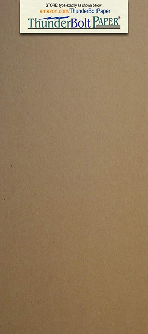 275 Sheets Chipboard 20pt (point) 4 X 9 Inches Light Weight Size Fits #10 Envelope .020 Caliper Thick Cardboard Craft|Ship Brown Kraft Paper Board