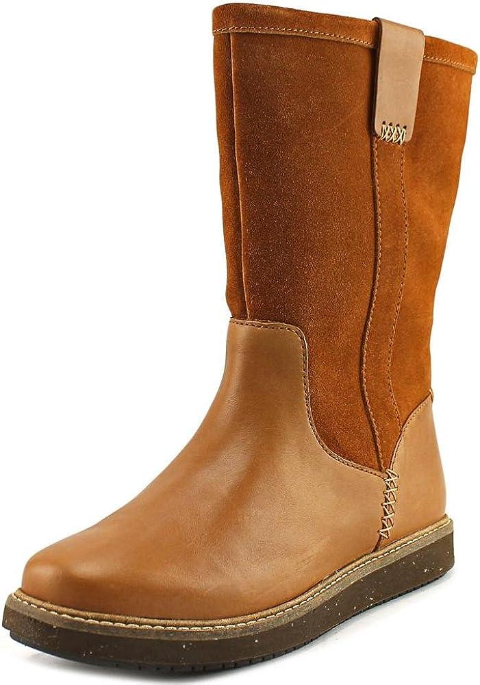 CLARKS Narrative Glick Elmfield Women US 5.5 Brown Winter Boot