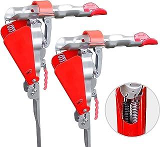 Shackcom 2 soportes para caña de pescar, con doble muelle automático, soporte de cañas de pescar de acero inoxidable, sopo...