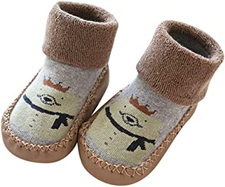 55ea1fe3a7 Lenfesh Baby Mädchen Jungen No Slip Slipper Socken, Rutschfeste Stiefel  Socken Kinder Baby Cartoon warme Schuhe Hausschuhe Socken