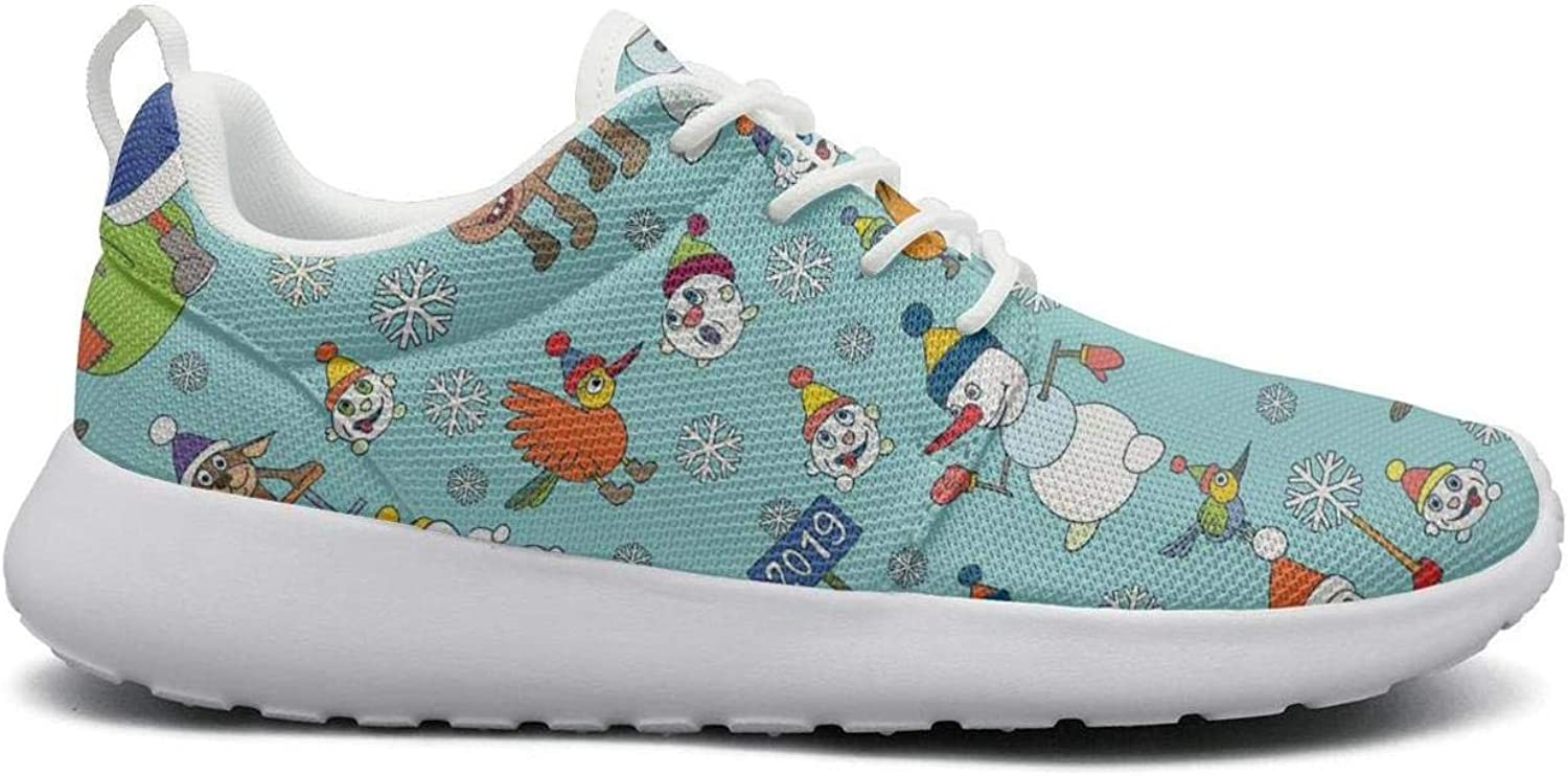 Gjsonmv Christmas Snowmen Year Pig Baby mesh Lightweight shoes for Women Comfortable Sports Trail Running Sneakers shoes