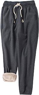 سروال رياضي حريمي من Gihuo مطبوع عليه بناطيل رياضية مبطنة شيربا