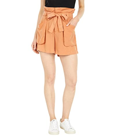 Blank NYC Tencel Paperbag Shorts with Self Belt in Malibu