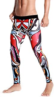 EUFANCE Men's Compression Workout Sports Pants Baselayer Tights Running Yoga Leggings